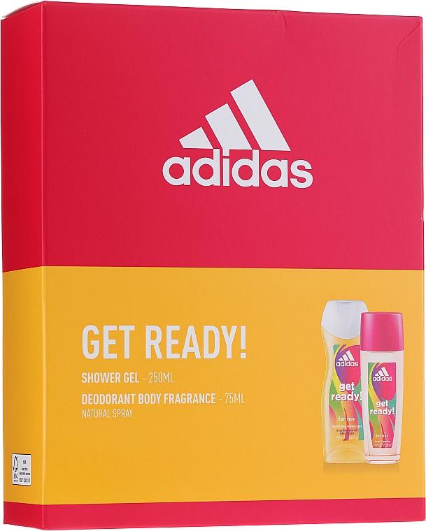 Adidas Get Ready! For Her - Set (deo/sp/75ml + sh/gel/250ml)
