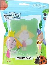 "Fragrances, Perfumes, Cosmetics Bath Sponge ""Ben and Holly"", Holly, light green - Suavipiel Ben & Holly"