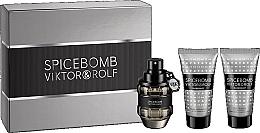 Fragrances, Perfumes, Cosmetics Viktor & Rolf Spicebomb - Set (edt/50ml + ash/balm/50ml + sh/cr/50ml)