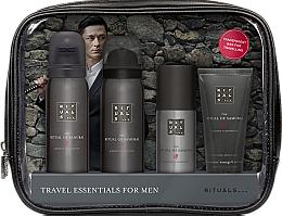 Fragrances, Perfumes, Cosmetics Set - Rituals The Ritual of Samurai Essentials Travel Set (foam/gel/50ml + sh/foam/50ml + cr/30ml + deo/50ml + bag)