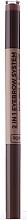 Fragrances, Perfumes, Cosmetics Brow Pencil - Wibo 2in1 Eyebrow System