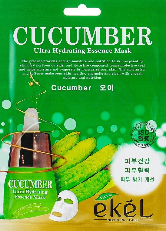 Cucumber Sheet Mask - Ekel Cucumber Ultra Hydrating Essence Mask