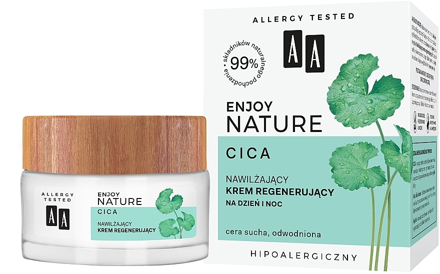 Moisturizing Regenerating Face Cream - AA Enjoy Nature Cica Moisturising Regenerating Cream