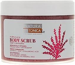 "Fragrances, Perfumes, Cosmetics Body Scrub ""Rosehip and Acai"" - Natura Estonica Purple Acai Body Scrub"
