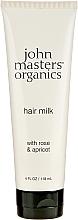 "Fragrances, Perfumes, Cosmetics Dry Hair Ends Milk ""Rose & Apricot"" - John Masters Organics Hair Milk Rose & Apricot"