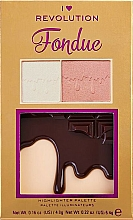 Fragrances, Perfumes, Cosmetics Highlighter Palette - I Heart Makeup Revolution Highlighter Palette Chocolate Fondue