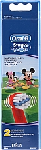 Fragrances, Perfumes, Cosmetics Kids Replaceable Toothbrush Heads EB10, Mickey - Oral-B Stages Power Disney