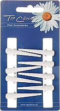 Fragrances, Perfumes, Cosmetics Hairpin, size XS, white, 8 pcs - Top Choice