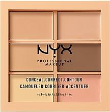 Fragrances, Perfumes, Cosmetics Face Corrector Palette - NYX Professional Makeup Palette Conceal Correct Contour