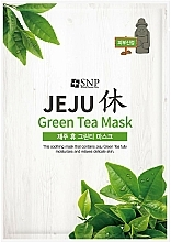 Fragrances, Perfumes, Cosmetics Soothing Green Tea Facial Sheet Mask - SNP Jeju Rest Green Tea Mask