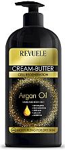Fragrances, Perfumes, Cosmetics Hands & Body Cream Oil 5 in 1 - Revuele Argan Oil Cream-Butter