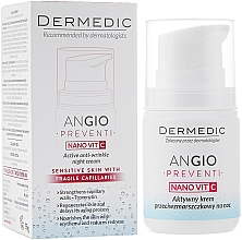 Active Anti-Wrinkle Night Cream for Skin Prone to Redness - Dermedic Angio Preventi Active Anti-Wrinkle Night — photo N1