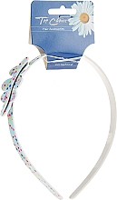 Fragrances, Perfumes, Cosmetics Hair Hoop with Leaf 27581, light blue - Top Choice