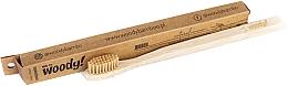 Fragrances, Perfumes, Cosmetics Bamboo Toothbrush, medium, beige bristles - WoodyBamboo Bamboo Toothbrush Natural