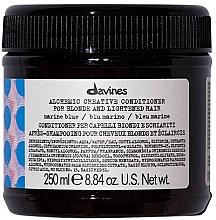 Fragrances, Perfumes, Cosmetics Natural & Colored Hair Conditioner (marine blue) - Davines Alchemic Conditioner Marine Blue