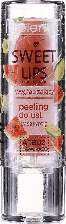 Smoothing Watermelon & Avocado Lip Scrub - Bielenda Sweet Lips Smoothing Lip Scrub