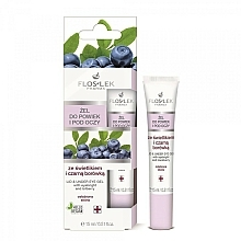 Fragrances, Perfumes, Cosmetics Lid and Under Anti-Aging Eye Gel with Eyebright and Bilberry - Floslek Lid And Under Eye Gel With Eyebright & Bilberry
