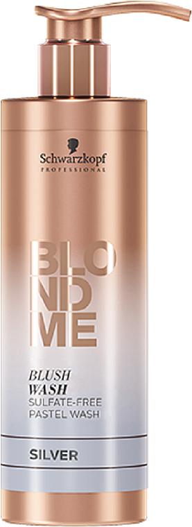Sulfate-Free Moisturizing Silcer Shampoo - Schwarzkopf Professional Blond Me Blush Wash Silver
