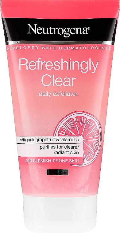 Pink Grapefruit and Vitamin C Face Scrub - Neutrogena Refreshingly Clear Daily Exfoliator