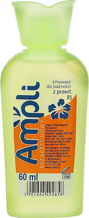 Acetone-Free Nail Polish Remover, yellow bottle - Ampli — photo N1