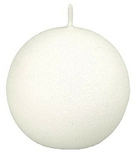 Fragrances, Perfumes, Cosmetics Decorative Candle, ball, white, 10 cm - Artman Glamour