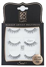 "Fragrances, Perfumes, Cosmetics False Lash Set ""Sara"" - Sosu by SJ Makeup Artist Multipack Eyelashes"