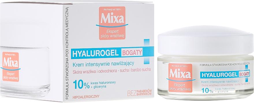 Moisturizing Face Cream - Mixa Hyalurogel Moisturizing Face Cream