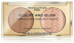 Fragrances, Perfumes, Cosmetics Face Contour Palette - Makeup Revolution Pro Sculpt And Glow