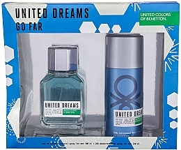 Fragrances, Perfumes, Cosmetics Benetton United Dreams Go Far - Set (edt/100ml + deo/150ml)