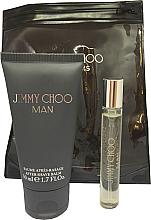 Fragrances, Perfumes, Cosmetics Jimmy Choo Man - Set (edt/mini/7.5ml + afsh/balm/50ml)