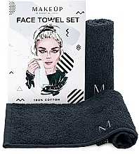 "Fragrances, Perfumes, Cosmetics Face Towels Travel Set, black ""MakeTravel"" - Makeup Face Towel Set"