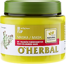 Fragrances, Perfumes, Cosmetics Colored Hair Mask with Thyme Extract - O'Herbal