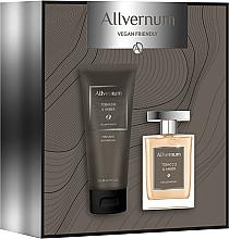 Fragrances, Perfumes, Cosmetics Allvernum Tobacco & Amber - Set (edp/100ml + sh/gel/200ml)