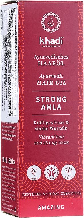 Hair Firming Oil - Khadi Ayuverdic Strong Amla Hair Oil