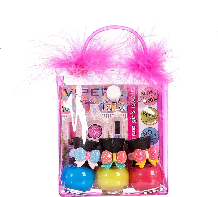 Set in Cosmetic Bag with Pompoms - Tutu Peel-Off (n/polish/5mlx3 + bag)
