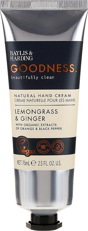 Hand Cream - Baylis & Harding Goodness Lemongrass & Ginger Natural Hand Cream