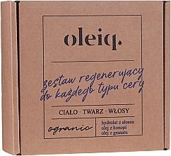 "Fragrances, Perfumes, Cosmetics Kit ""Repair"" for All Skin Types - Oleiq (hydrolat/100ml + oil/100ml + oil/30ml)"
