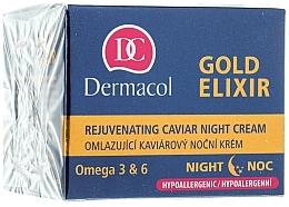 Fragrances, Perfumes, Cosmetics Rejuvenating Night Cream - Dermacol Gold Elixir Rejuvenating Caviar Night Cream