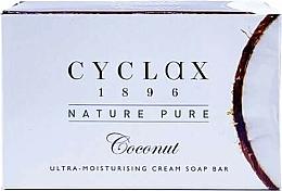Fragrances, Perfumes, Cosmetics Ultra-Moisturizing Coconut Cream Soap Bar - Cyclax Nature Pure Coconut Ultra-Moisturising Cream Soap Bar