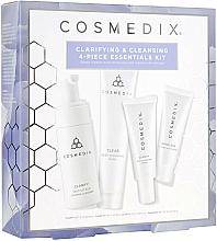 Fragrances, Perfumes, Cosmetics Set - Cosmedix Clarifying & Cleansing 4-Piece Essentials Kit (f/cleanser/60ml + f/ser/15ml + f/mask/30g + f/cr/15ml)