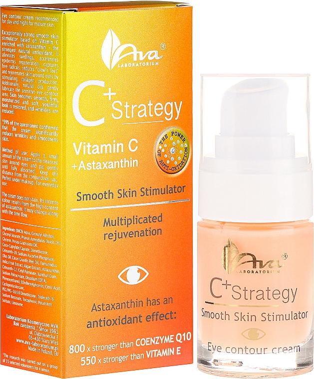 Vitamin C Eye Cream - Ava Laboratorium C+ Strategy Smooth Skin Stimulator Eye Contour Cream