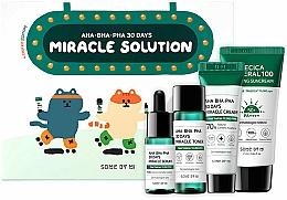 Fragrances, Perfumes, Cosmetics Set - Some By Mi AHA BHA PHA 30 Days Miracle Solution 4 Step Kit (sun/cr/25ml + ton/30ml + ser/10ml + f/cr/20g)