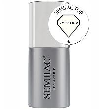 Fragrances, Perfumes, Cosmetics Gel Polish Top Coat - Semilac UV Hybrid