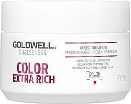 Fragrances, Perfumes, Cosmetics Intensive Colored Hair Mask - Goldwell DualSenses Color Extra Rich 60sec Treatment