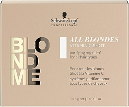 Fragrances, Perfumes, Cosmetics Vitamin C Concentrate for All Hair Types - Schwarzkopf Professional Blondme All Blondes Vitamin C Shot