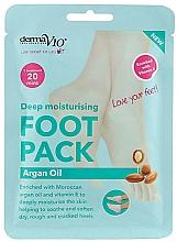 Fragrances, Perfumes, Cosmetics Softening Foot Sock-Mask - Derma V10 Foot Mask Argan Oil