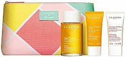 Set - Clarins Tonic (bath/f/30ml + b/scr/30ml + b/oil/100ml + bag) — photo N1