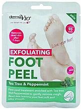 Fragrances, Perfumes, Cosmetics Exfoliating Foot Sock-Mask - Derma V10 Foot Peel Sock Mask Tea Tree & Peppermint