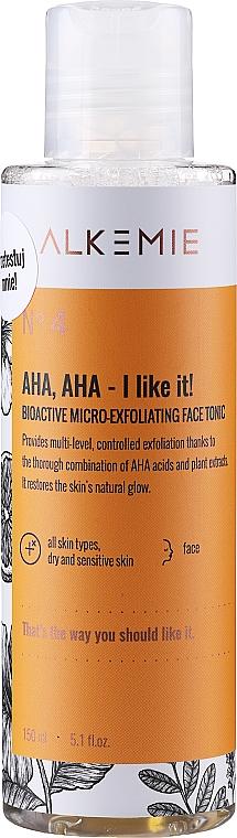 Micro Exfoliating Facial Tonic - Alkemie Nature's Treasure Aha Aha I Like It! Tonic