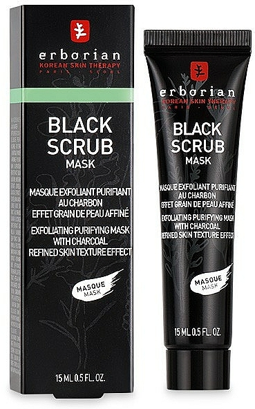 Cleansing Charcoal Scrub Mask - Erborian Black Scrub Mask